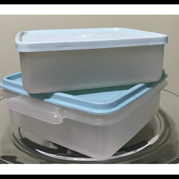 TUPPERWARE SQUARE ROUND SANDWICH HOLDER KEEPER CONTAINER LIME GREEN